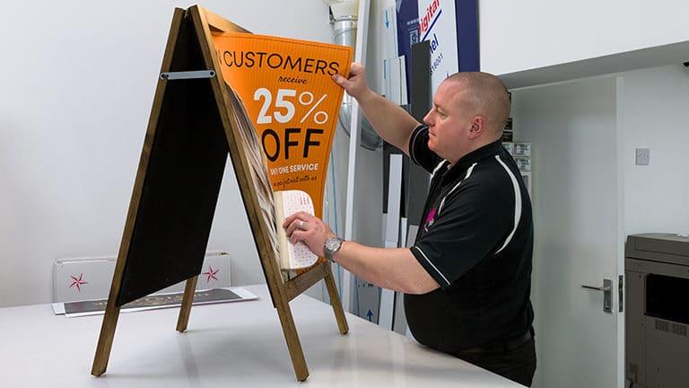 signage a board h1 137